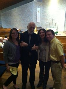 Allison, me, our friend Brigitte, and Dr. Fretheim in the chapel at Luther Seminary