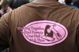 An example of a T-shirt with a mission statement