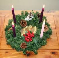 "Advent Wreath (labeled for commercial reuse with modification in a Google.com image search for ""Advent"")"