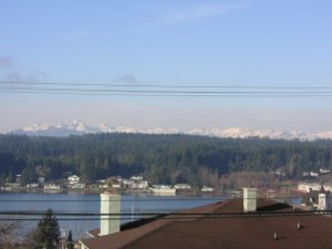 View of the Olympics (from First Lutheran Church in Poulsbo, WA. Taken 12/31/06).