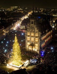 Christmas Tree in Gouda (1 of the 101 photos showing faith around the world)  Credit:  Koen van Weel/AFP/Getty Images.