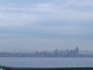 Seattle in the distance (photo taken by me)