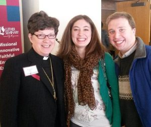 Presiding Bishop Elizabeth Eaton with Allison and I  (photo taken by Thomas Siburg)