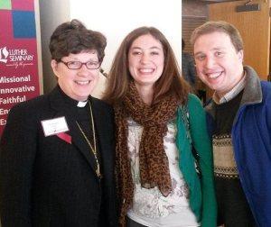 Presiding Bishop Elizabeth Eaton with Allison and I  (photo taken by Thomas Siburg)
