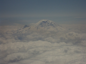 Mount Rainier (from one of my many flights to/from Seattle). Nothing quite gives me that moment of calm and wonder of God's creation and work in the world then seeing something as beautiful and amazing as this.