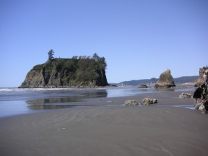 Beautiful day at Ruby Beach on the western edge of Washington State- where the Olympic Peninsula meets the Pacific Ocean