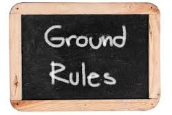 Ground Rules Chalk Board