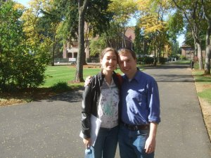 My wife and I on the campus of Pacific Lutheran University in the Fall of 2012 (where we met, graduated from, later got engaged...etc.)