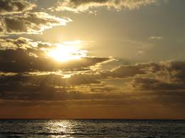 The sun over the sea, is as good as any image to show or symbolize God's love and in-breaking, isn't it?