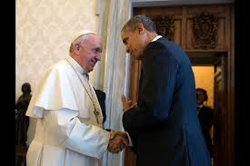 Pope Francis and President Obama together