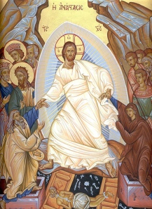 """One depiction of Easter- """"Jesus rose for you"""""""