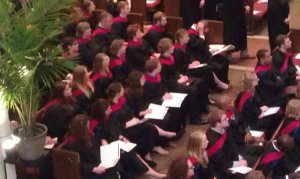 What a bunch of seminary Graduates to be looks like when all robed up.