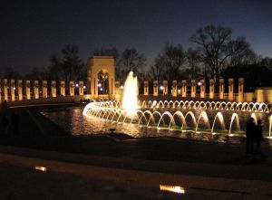 The National World War II Memorial at Night