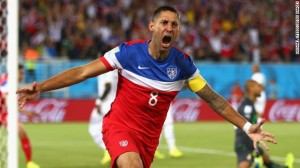 Excitement early on in the first match for Team USA in the 2014 World Cup as Clint Dempsey scores for the United States' team against Ghana.