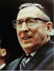 Legendary college basketball coach John Wooden. Not only did he know how to coach leaders, he helped bring out the best in them.
