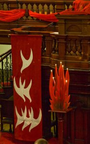 Pentecost in another sanctuary