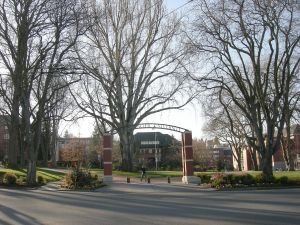 Part of the campus of Seattle Pacific University