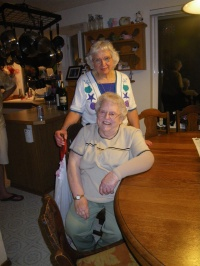 My Grandmas- Grandma S. and Grandma T. together, the evening after our wedding rehearsal