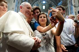 The Pope with some Millennials
