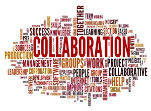 If one were to create a Wordle sharing thoughts about what one thinks of regarding collaboration, this is what might result. (Courtesy of Mission Network News)