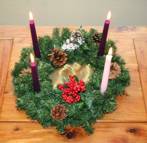 Advent Wreath with Advent Candles