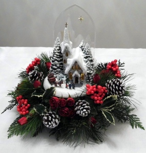 One of the countless Christmas scenes and centerpieces designed and created by Thomas Kinkade