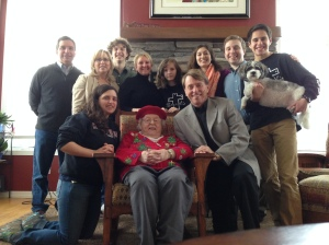 Family gathered over the Thanksgiving weekend with Grandma right in the middle.