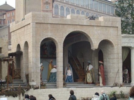 In the spirit of Christmas, here's a picture of a Nativity Scene that I saw outside the Vatican in 2008