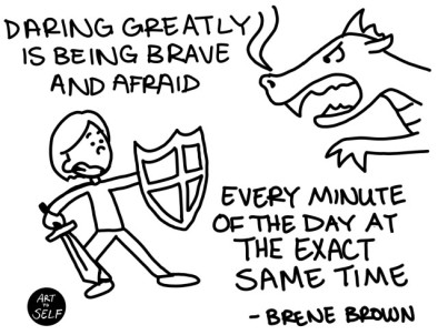 """You can still be afraid and act bravely."""