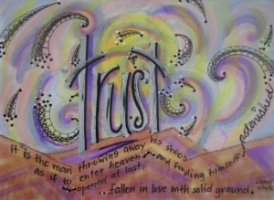 """""""fallen in love with solid ground"""" by Vonda Drees"""