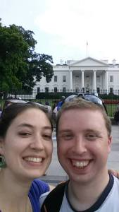 Allison and I in front of the White House last year