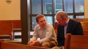Uncle (and pastor) David Parks and I enjoying a conversation