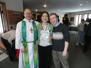 I am particularly grateful for Pr. Fred (pictured here with Allison and me). Not only has he been a colleague and partner in ministry in 2 congregations with me, he has been a great friend, and a wonderful supporter and go-to person for Allison and I in our early years of marriage.