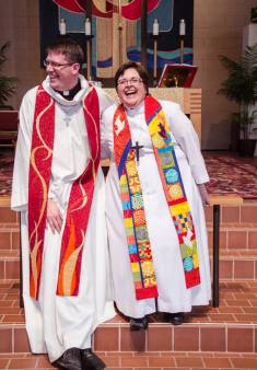 The Newly Ordained Pastors Scott Richards and Grace Gravelle. (Photo courtesy of Amelia Decker)