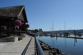 The Liberty Bay facing side of the Austin-Kvelstad Pavilion in Poulsbo