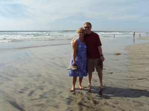 Mom and I on the beach on a sunny day in Southern California! Happy Birthday Mom!