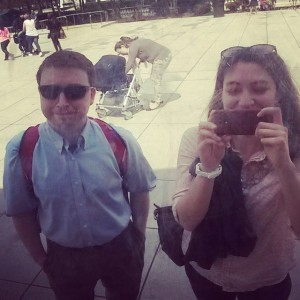 During a lunch break at ARL, Allison and I decided to make a quick tourist visit to the Bean in Chicago, since I had never seen it before.