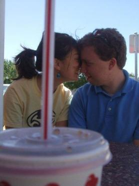 What happened the first time that Allison and I were at an In-N-Out together.