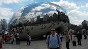 In front of the Bean