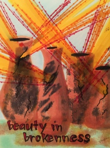 "A beautiful artistic post by Vonda Drees called, ""beauty in brokenness."""