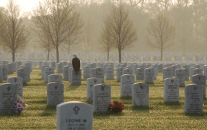 Frank Glick's famous photo of an eagle on a gravestone at Fort Snelling National Cemetery