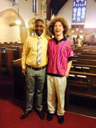 My brother Thomas and his friend Mingo Johnson at Redeemer Lutheran on Easter Sunday.