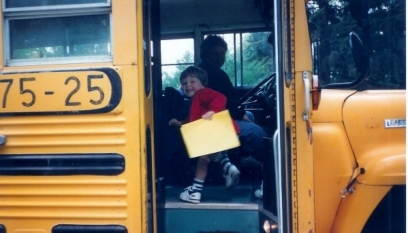 First day of kindergarten... long, long ago (before social media)