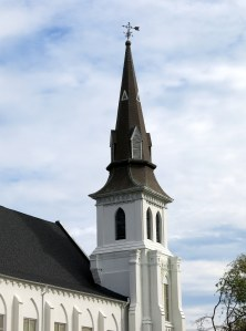 The steeple of Mother Emanuel AME