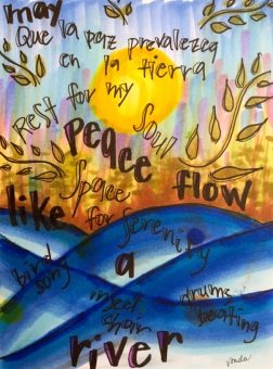 """May peace flow like a river"" by Vonda Drees"