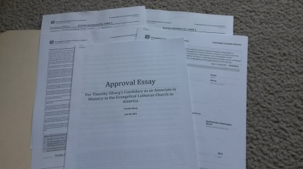 Essay and forms for approval and assignment