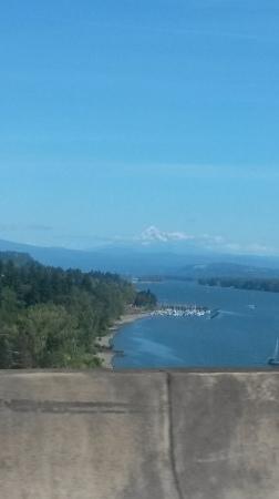Mount Hood overlooking the Columbia River