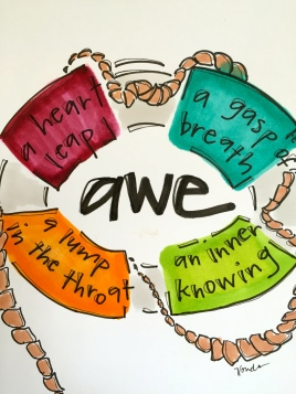 """awe is a lifesaver"" by Vonda Drees."