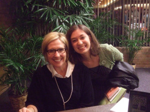 My wife Allison meeting Brene Brown