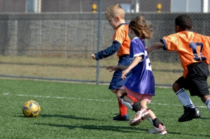 Youth sports like soccer, pictured here.